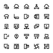 Network Technology Vector Icon Pack Stock Illustration