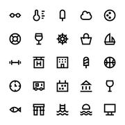 Tourism and Travel Vector Icons Pack Stock Illustration