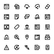 Web Design and Development Vector Icons Pack Stock Illustration