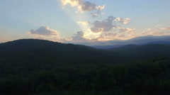 BlueRidge Mountains In Fall At Sunrise Stock Footage