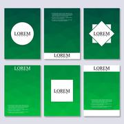 Vector brochure template, flyer, cover magazine in A4 size. Business abstract - stock illustration