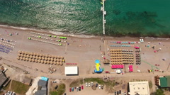 The Jaz is one of the longer beaches in Montenegro Stock Footage