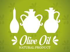 Olive oil design Stock Illustration