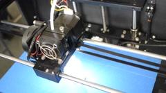 3D printer print top Stock Footage