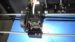 3D printer from above - stock footage