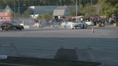 Competitions on car drift Stock Footage