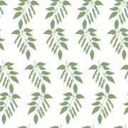 Seamless colorful pattern of Chinese Schisandra Stock Illustration
