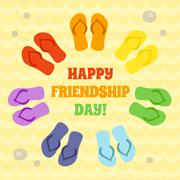 Card for Happy Friendship day Stock Illustration
