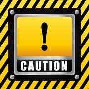 Caution design. illuistration Stock Illustration