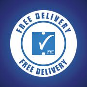 Free delivery illuistration Stock Illustration