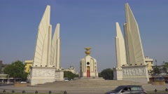 The Democracy Monument in Bangkok - stock footage