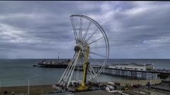 Brighton wheel being dismantled Stock Footage