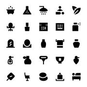 Beauty and Spa Vector Icons Pack - stock illustration
