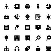 Business and Office Vector Icons Pack Stock Illustration
