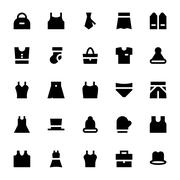 Clothes, Apparel and Garments Vector Icons Collection - stock illustration