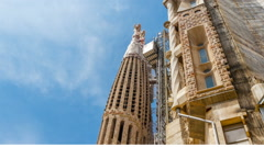 Slideshow of Barcelona Attractions Stock Footage