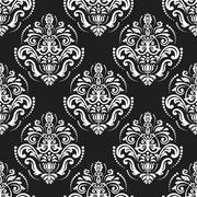 Seamless Vector Wallpaper in the Style of Baroque Stock Illustration