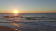 Beautiful Ocean Sunrise On Myrtle Beach Stock Footage