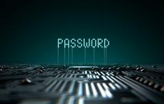 Circuit Board Projecting Password - stock illustration