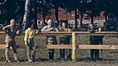 USA 1941: people watching people while horse riding - stock footage