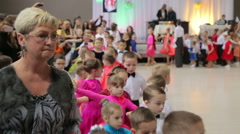 UKRAINE, TERNOPIL, MARCH 12, 2016: Little children on dance contest, try-out. Stock Footage