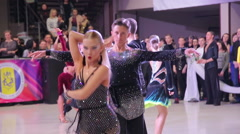 UKRAINE, TERNOPIL, MARCH 12, 2016: Dance competition in the hall Stock Footage