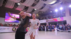 UKRAINE, TERNOPIL, MARCH 12, 2016: Professional dance competition in Ternopil Stock Footage