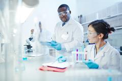 Lab investigation Stock Photos