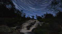 Bjoergvin | Startrails over Cascade Stock Footage