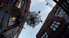 Art object in Downtown of Oslo - stock footage
