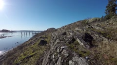 Exploring small islands in Norway - stock footage