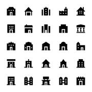 City Elements Vector Icons Set - stock illustration