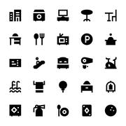 Hotel Services Vector Icons - stock illustration