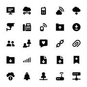 Internet, Networking and Communication Icons Collection - stock illustration