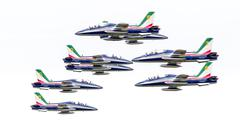 Italian aerobatic team Frecce Tricolori in the Netherlands - stock photo