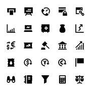 Market and Economics Vector Icons Stock Illustration