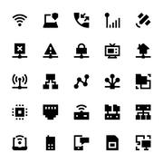 Network Technology Vector Icons - stock illustration