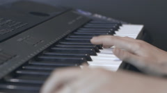the pianist is playing the notes - stock footage