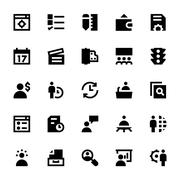Project Management Vector Icons Pack - stock illustration