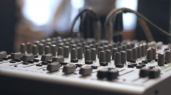 hardware Mixer in wires - stock footage