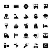 Tourism and Travel Vector Icons Collection - stock illustration