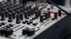 Hardware Mixer in wires Stock Footage
