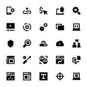 Web Design and Development Vector Icons Set - stock illustration