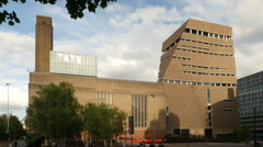 Tate Modern Gallery including Switch Room extension. Stock Footage