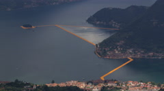 The Floating Piers Time Lapse Stock Footage