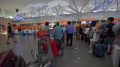 Departure hall in klia2 international airport Stock Footage