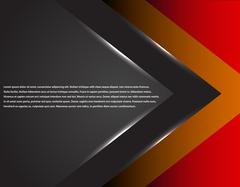 Black and red corporate tech striped graphic design. Glowing lines. Colorful - stock illustration