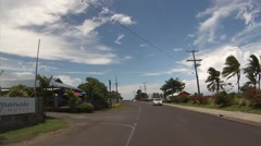 POV South Pacific Island Road - stock footage