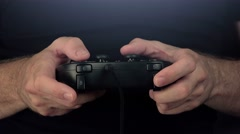Time lapse of man playing video games with gamepad controller - stock footage