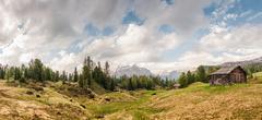 Remote cabin, Alta Badia South Tyrol, Italy Stock Photos